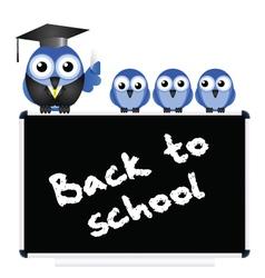 BLACKBOARD BACK TO SCHOOL vector image vector image