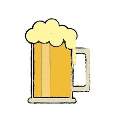 cartoon saint patrick day mug of beer foam bubbles vector image vector image