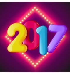 New in 2017 vector image vector image