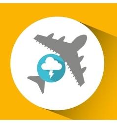 Plane travel weather forecast lightning cloud vector