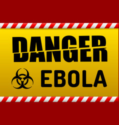 ebola virus danger sign with reflect vector image