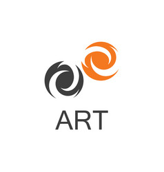 eye abstract logo vector image