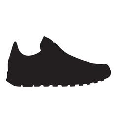 Running shoe - sneaker silhouette vector image vector image