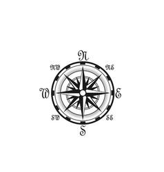 seafarer navigation compass nautical icon vector image
