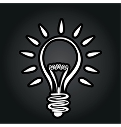abstract lightbulb vector image
