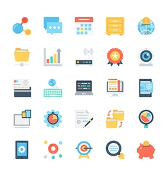 Design and development colored icons 6 vector