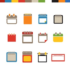 Different calendar web icons collection vector image vector image