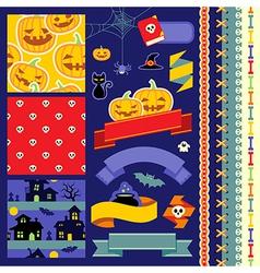 Happy Halloween scrapbook vector image vector image