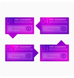 Infographics four steps vector image