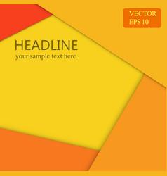 orange background wallpaper banner design vector image