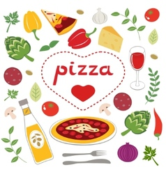 Pizza collection vector image