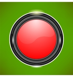 Red Glass Button vector image