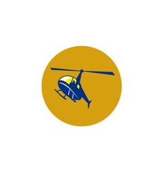Helicopter Chopper Flying Circle Retro vector image