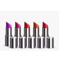 modern lipstick set on white vector image