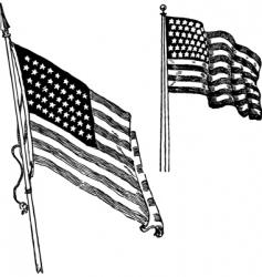 us flag sketch vector image vector image