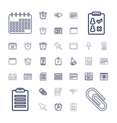 37 reminder icons vector