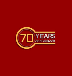 70 years anniversary golden and silver color vector
