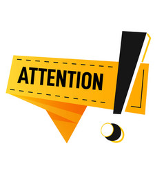 Attention sign with exclamation mark banner vector
