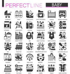 baby classic black mini concept symbols baby vector image