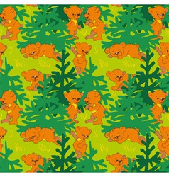 Bears in the wood vector