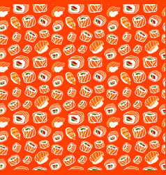 beautiful seamless pattern with sushi vector image