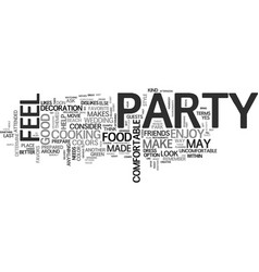 Before you plan your party text word cloud concept vector