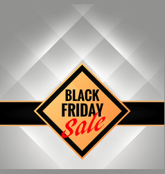 Black friday promotional banner template with vector