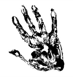 Black Print of hand vector image