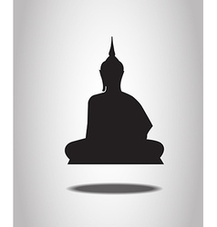 Buddha Silhouettes on the white background vector