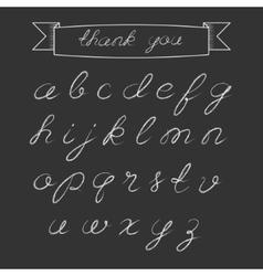 Chalk script alphabet vector image