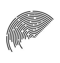 circle stripe lines logo symbol icon design vector image
