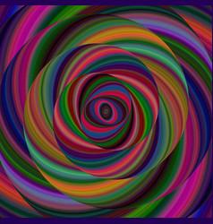 Colorful ellipse fractal spiral design background vector