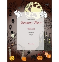 Colors Halloween Elements for holiday vector image
