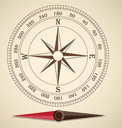 Compass outline vector image