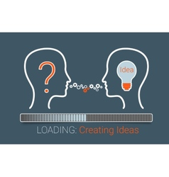 Creating Idea vector image