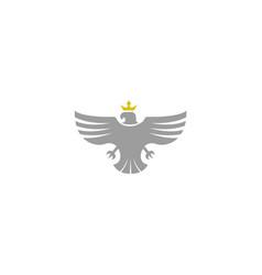 creative eagle crown logo design vector image