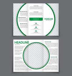 design triple flyer with space for photo in the vector image