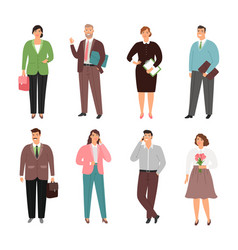 different people man and woman office worker vector image