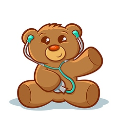 Doctor Teddy Bear vector