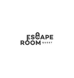 Escape room logo vector