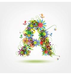 Floral letter for your design vector