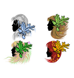 Four women as seasons vector