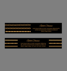 gold chains cards and text vector image