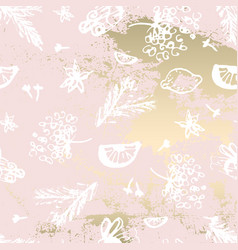Hand drawn chic winter painting pattern on trendy vector