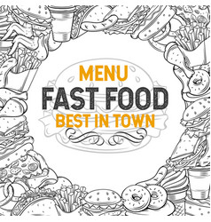 Hand drawn fast food vector
