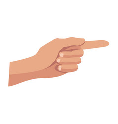 Hand pointing vote symbol image vector