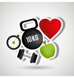 Healthy lifestyle design vector