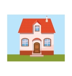 House icon in cartoon style vector image