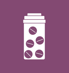 Icon bank with pills vector
