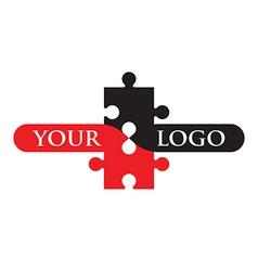 jigsaw logo vector image